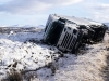 Lorry overturned by Storm Henry