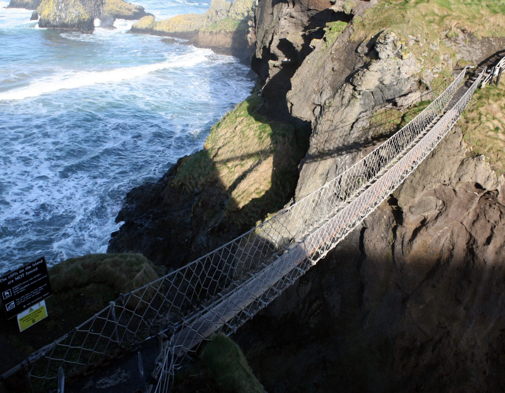rope bridge across the sea