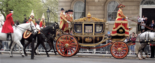 6 The Royal Procession. HM The Queen in the 1851 Irish State Coach