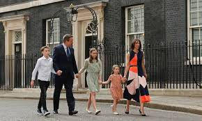 Camerons leaving Downing St